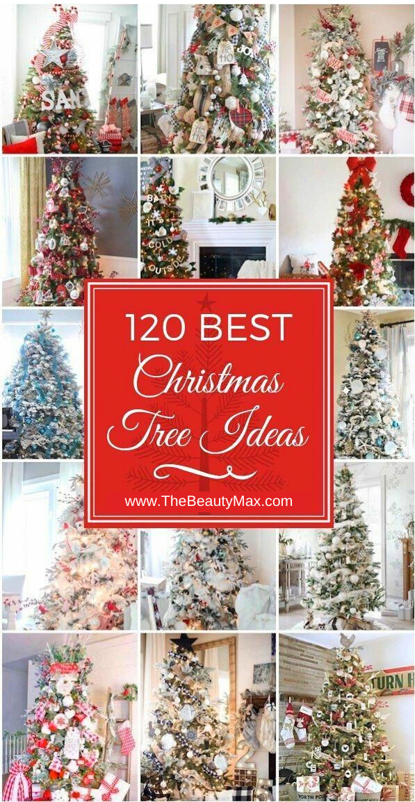 120 Best Christmas Tree Decoration Ideas That You D Have To Take Inspiration From Christmas Tree Decorations Cool Christmas Trees Blue Christmas Decor