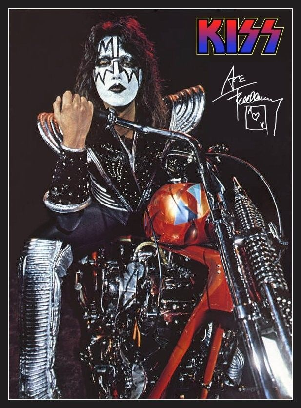 Kiss Ace Frehley Motorcycle Stand Up Display Ebay Ace Frehley