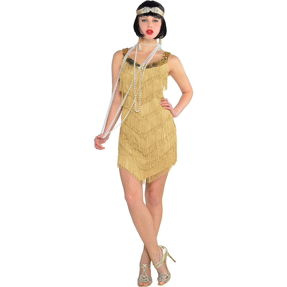 Roaring '20s Champagne Flapper Dress Flapper dress