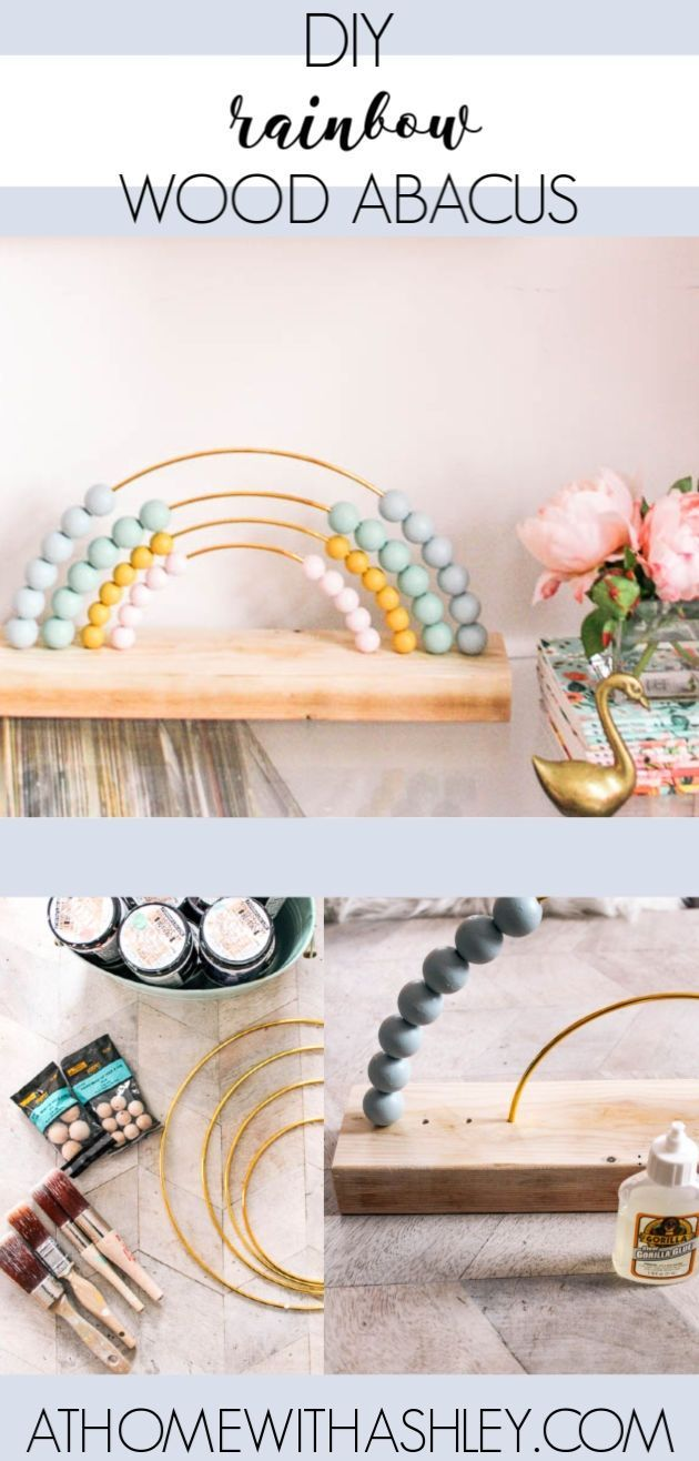 Photo of DIY Rainbow Abacus – at home with Ashley – #Abacus #Ashley #babyzimmer #DIY #hom…