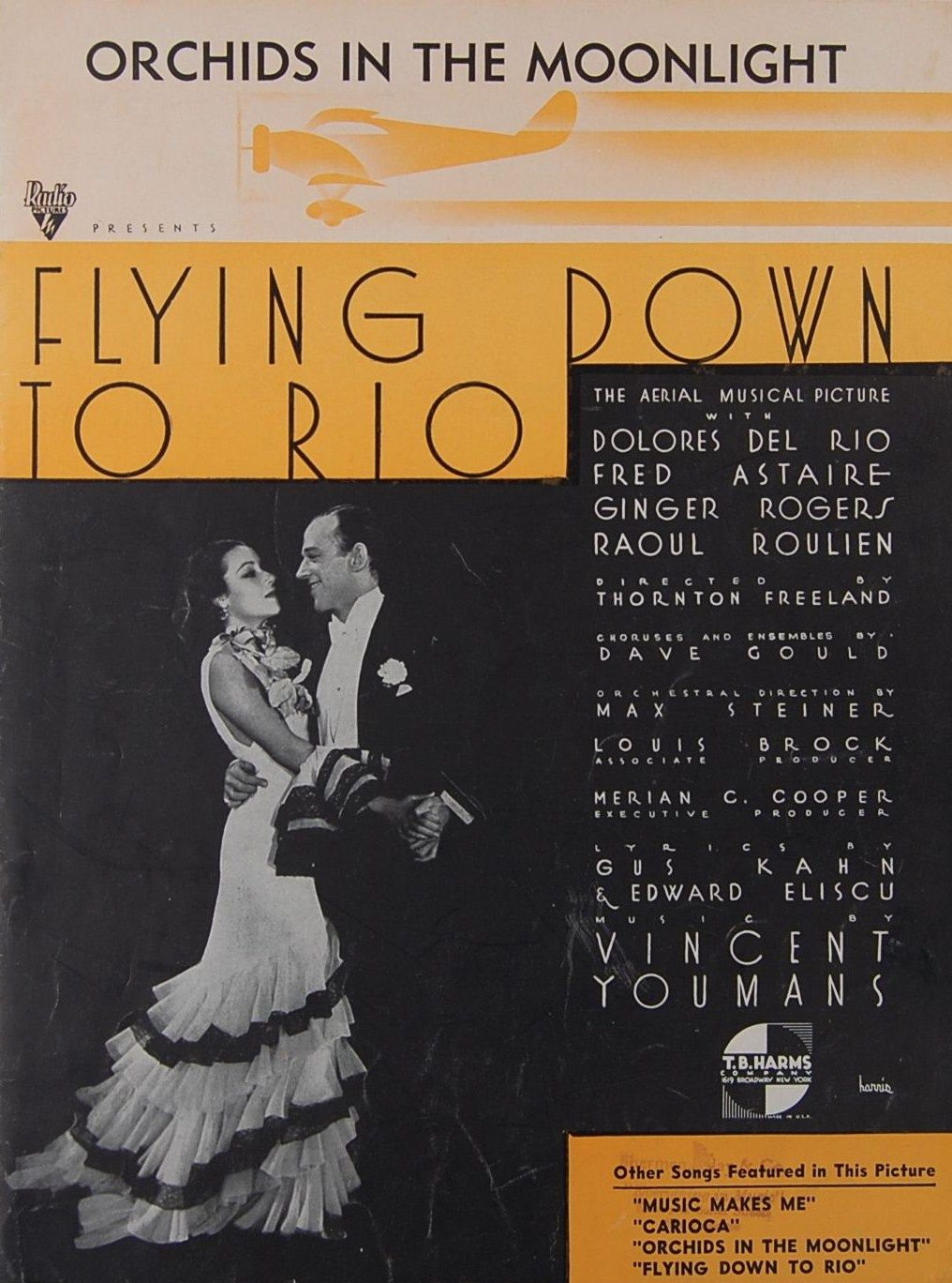Flying Down to Rio Sheet Music Fred Astair Ginger