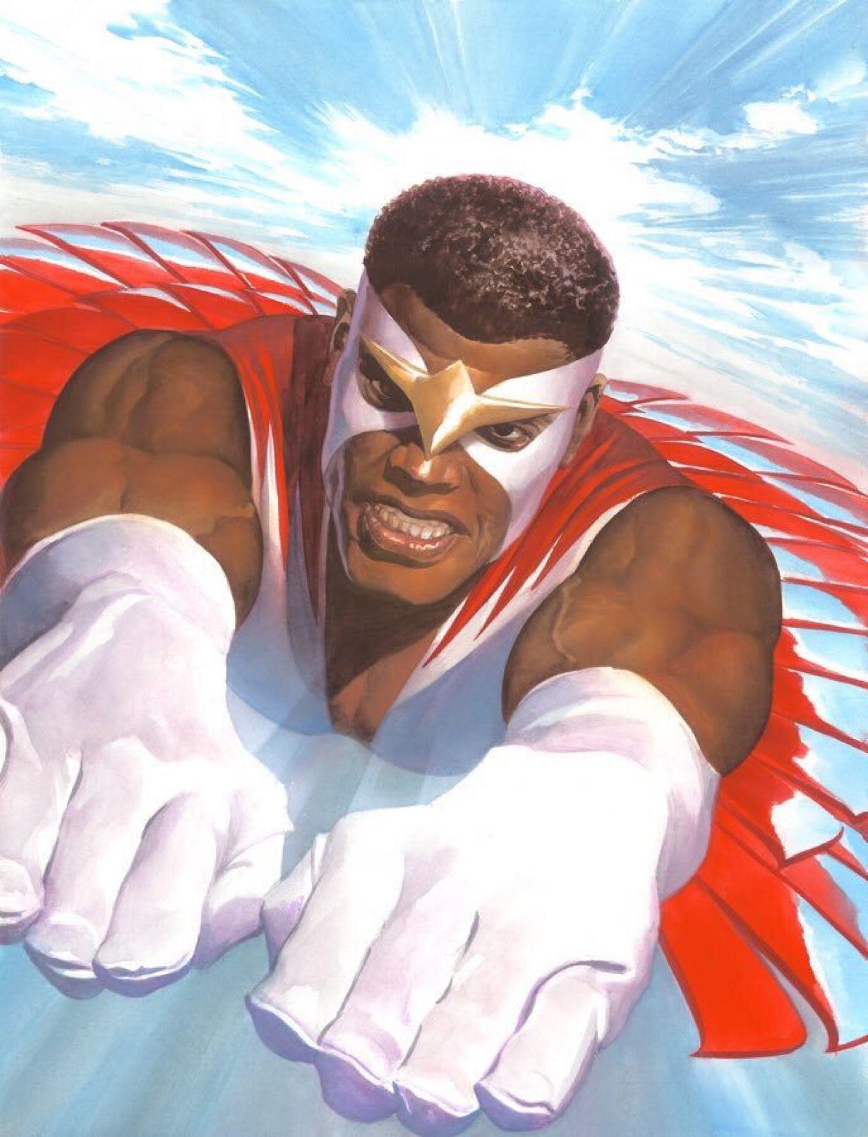The Falcon by Alex Ross | Marvel comics art, Alex ross, Falcon marvel