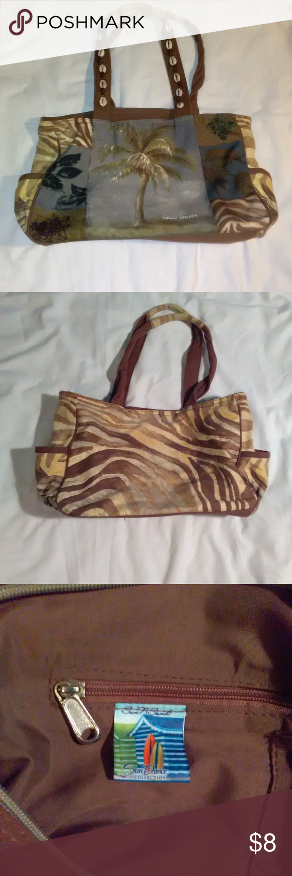 Sun N Sand Palm Tree Beach Bag Tote