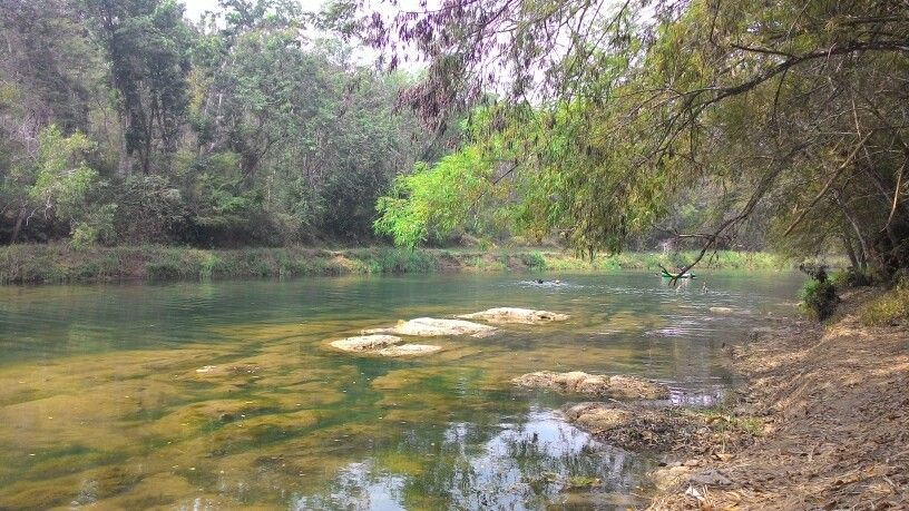 Fun paddling and river adventure at Oyo river. This place is at Wanagama forest,  Gunung Kidul,  Yogyakarta,  Indonesia