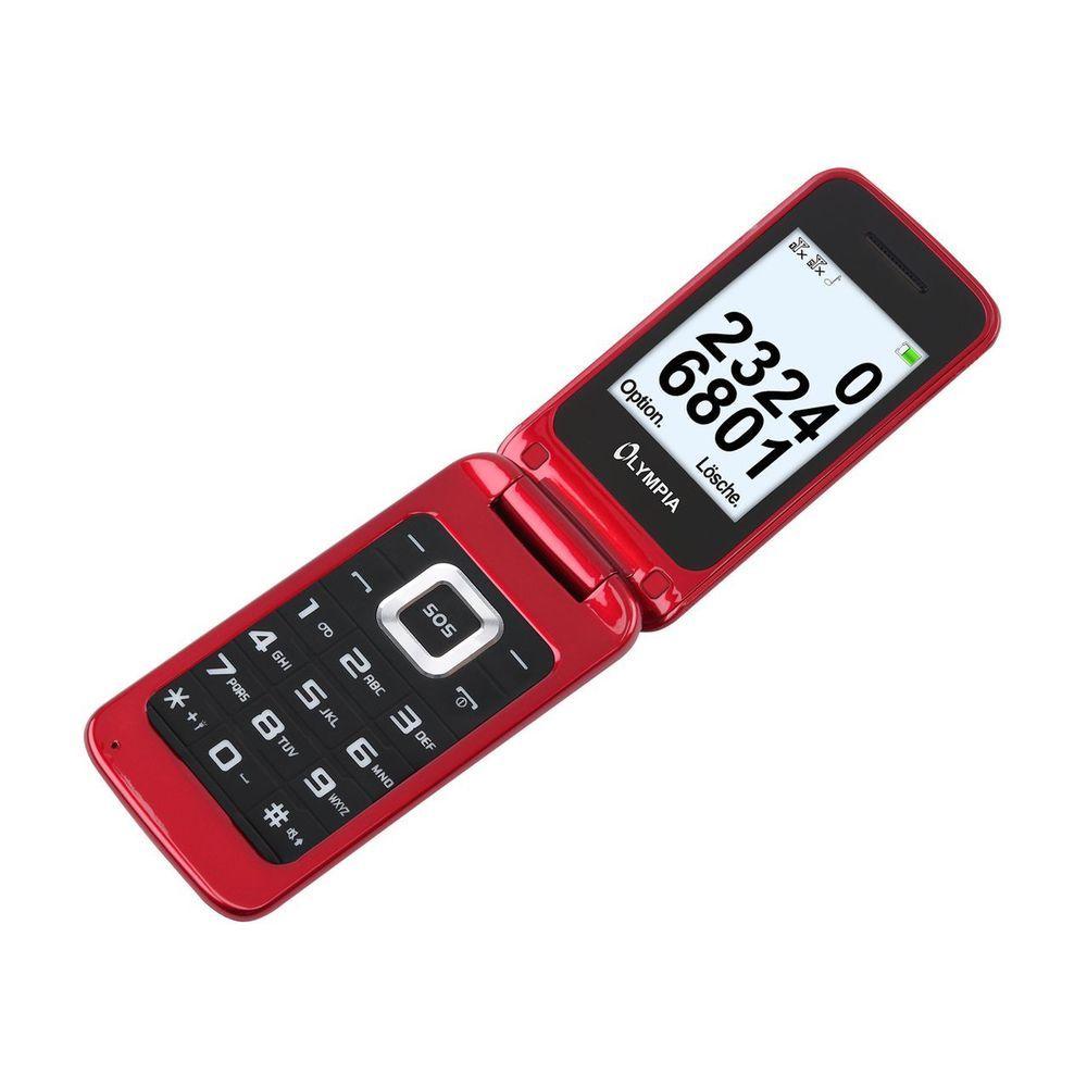 Olympia Luna Senioren Mobiltelefon Handy Mit Grossen Tasten Rot Telefon Senioren Handy Handy