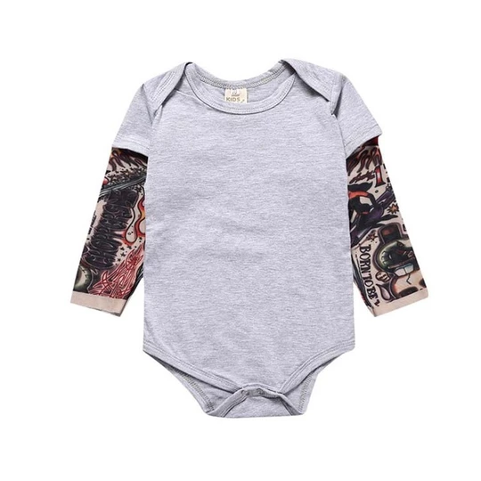 Fashion Baby Bodysuits 2018 Spring Long Sleeve Cotton
