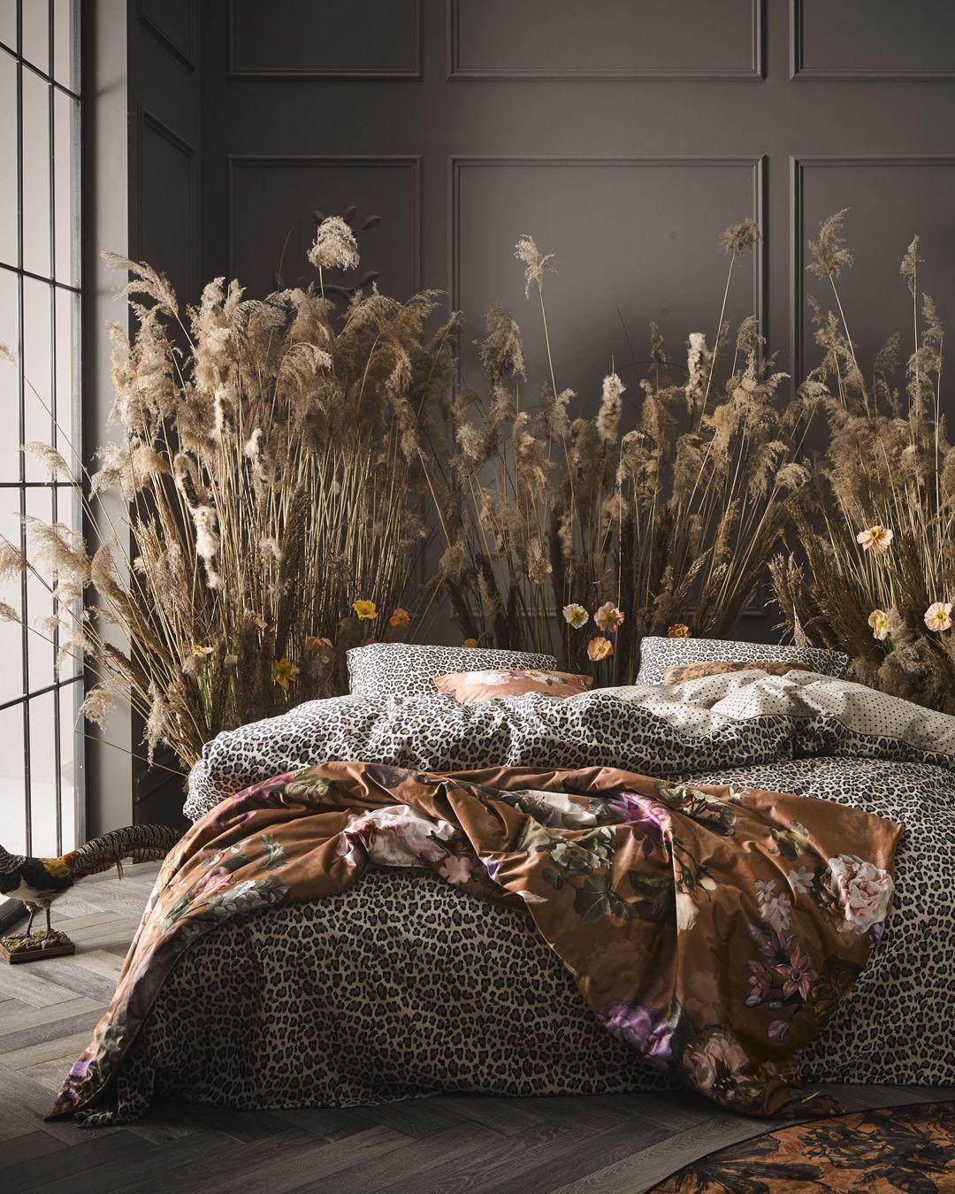 Essenza Bory Bettwäsche Leoparden Muster Sand Floral