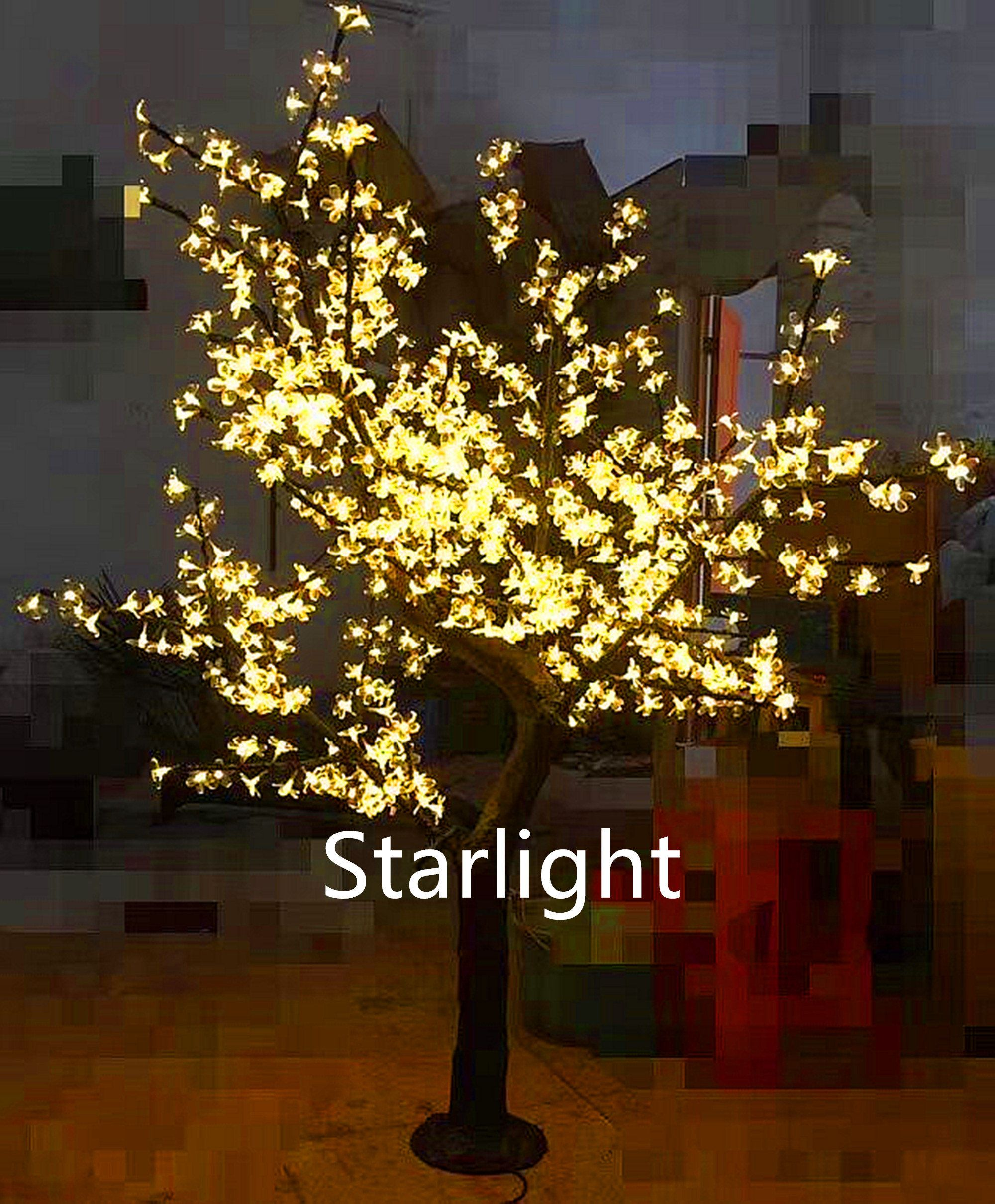 6ft Warm White Led Artificial Christmas Tree Cherry Blossom Etsy Decorative Night Lights Artificial Cherry Blossom Tree Light Up Tree