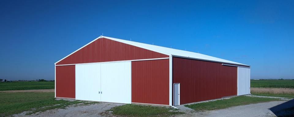 Farm building profile use cold storage machine shed size for Machine shed plans free