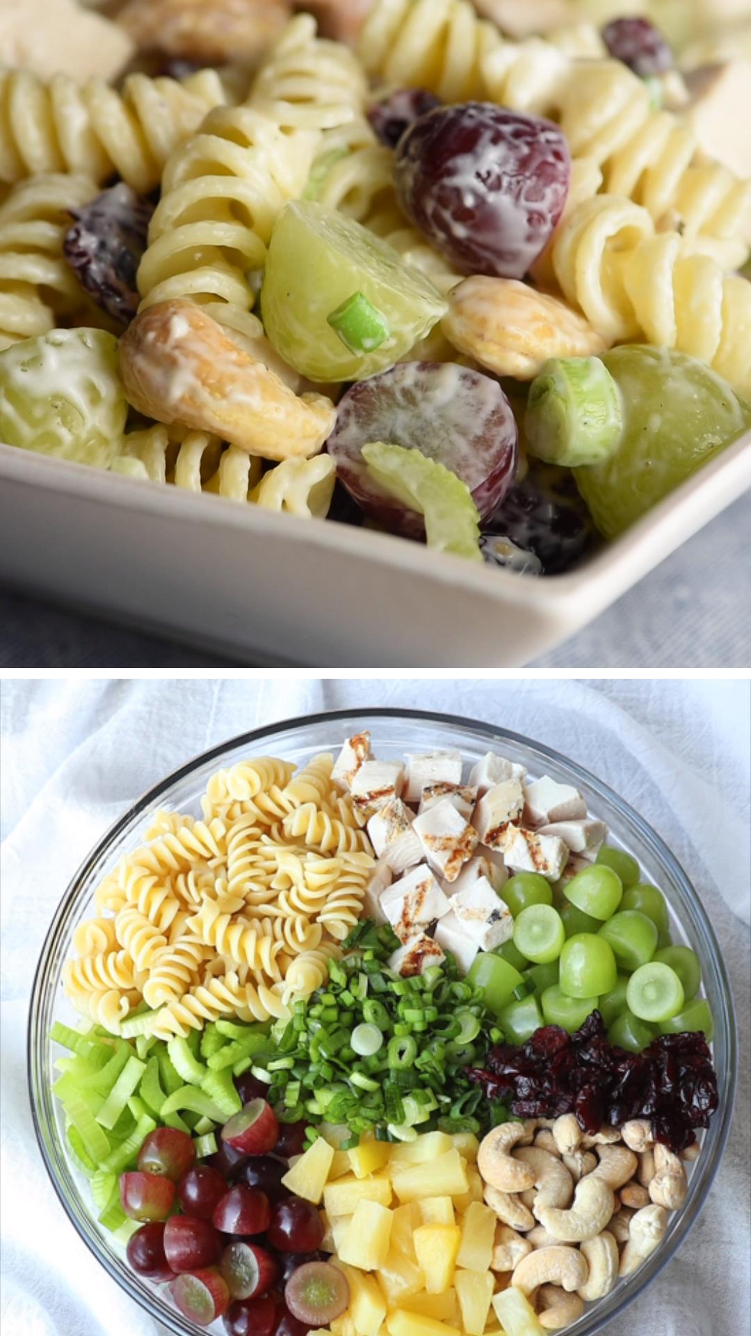 Cashew Chicken Pasta Salad   Salatdressing Gemischter Salat