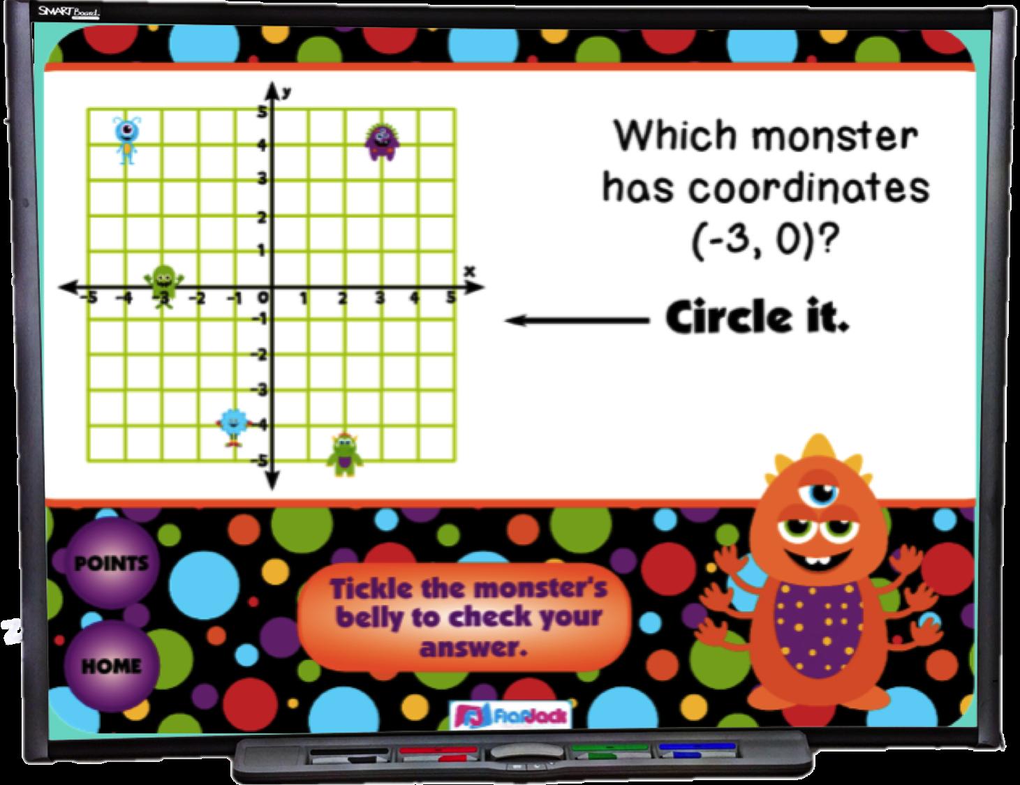 Coordinate Graphing Smart Board Promethean Game Ccss 5 Oa