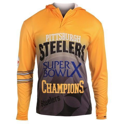 Pittsburgh Steelers Super Bowl X Official NFL Champions Poly Hoody ... 06de09bd6