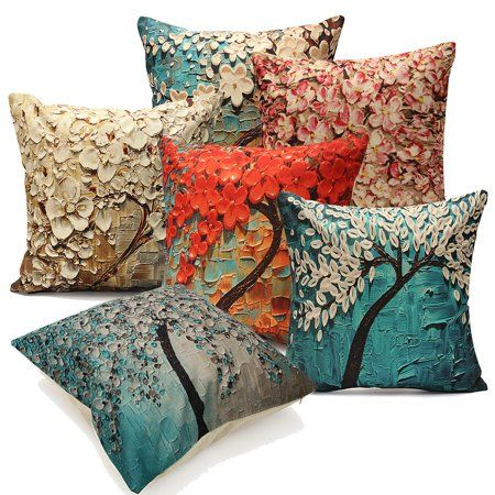 """18/""""X18/'/' Trees Printed Throw Pillow Case Cushion Covers Home Decoration Bedding"""