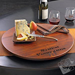 Personalized Wine Barrel Lazy Susan at Wine Enthusiast - $119.95