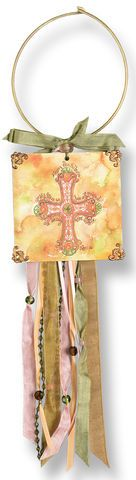 a gift of grace card holder | Cross of Grace Doorknob Blessing Card Holder $15.95