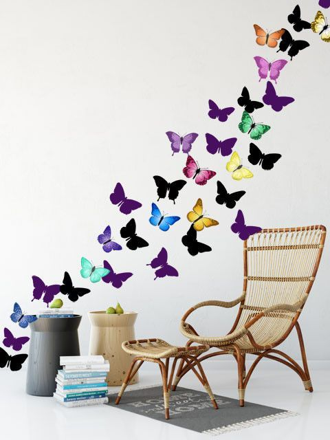 Good Butterfly Family Wall Decals Are Perfect For Teen Girls Bedroom Walls. Just  Let Them Simple Peel Stick And Decorate! They Will Take A Boring Room To ...