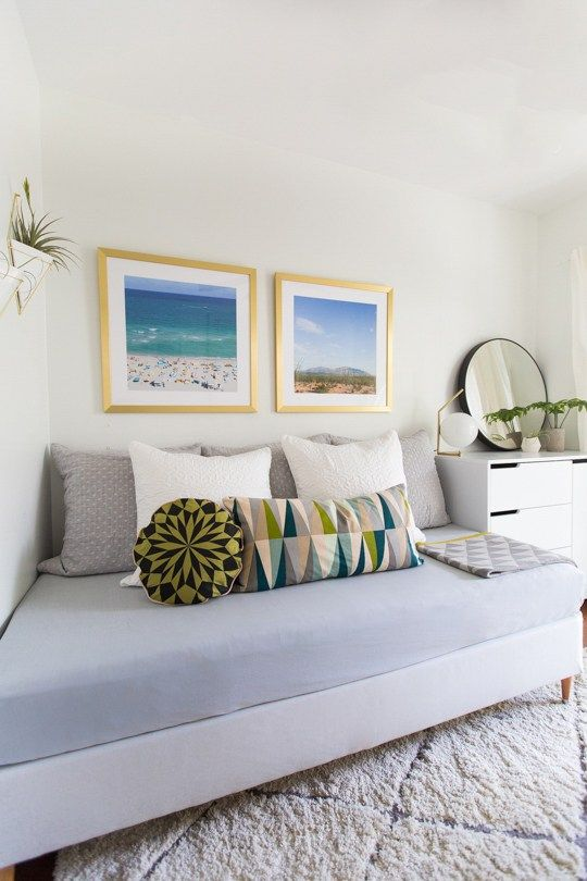 DIY Mid Century Daybed and Guest room tour | Guest room ... Daybed Spare Bedroom Decorating Ideas on dining room decorating ideas, bathroom decorating ideas, daybed diy ideas, daybed home office ideas, daybed guest room decorating ideas, daybed bedroom furniture, living room decorating ideas, sitting room decorating ideas, daybed design ideas,