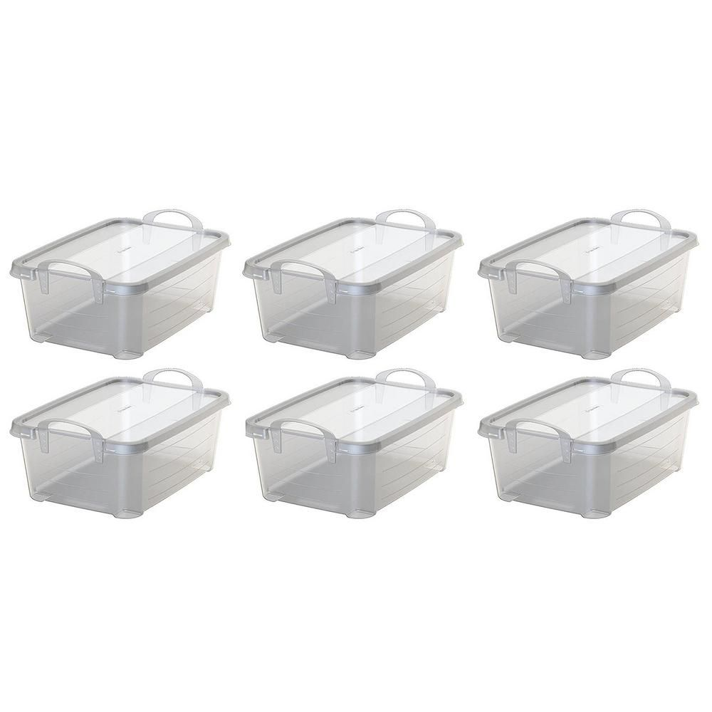 Life Story 14 Qt Clear Closet Organization Storage Box Container
