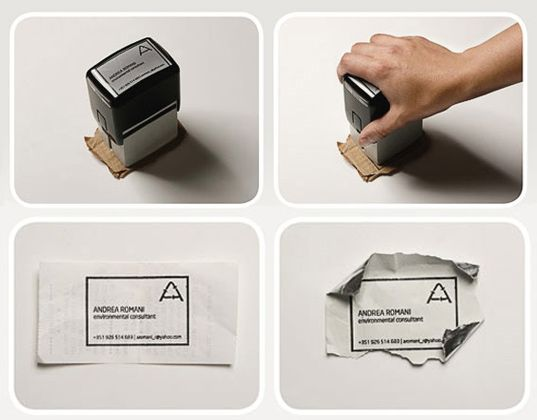 Brilliant Eco Business Card Can Be Printed On Practically Anything Eco Friendly Business Cards Business Cards Creative Business Card Maker