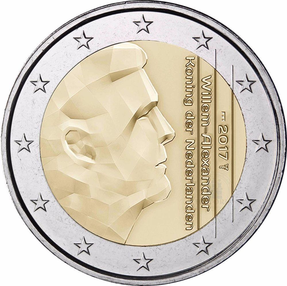 Details Zu Niederlande 2 Euro Sankt Servatius Brücke 2017 Münze Mit