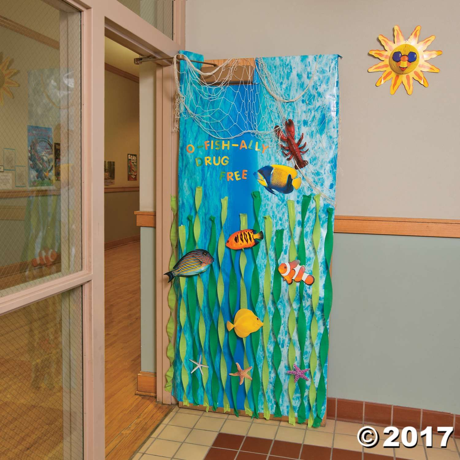 Sea Themed Decorating Ideas Part - 47: Under The Sea Door Decoration Idea