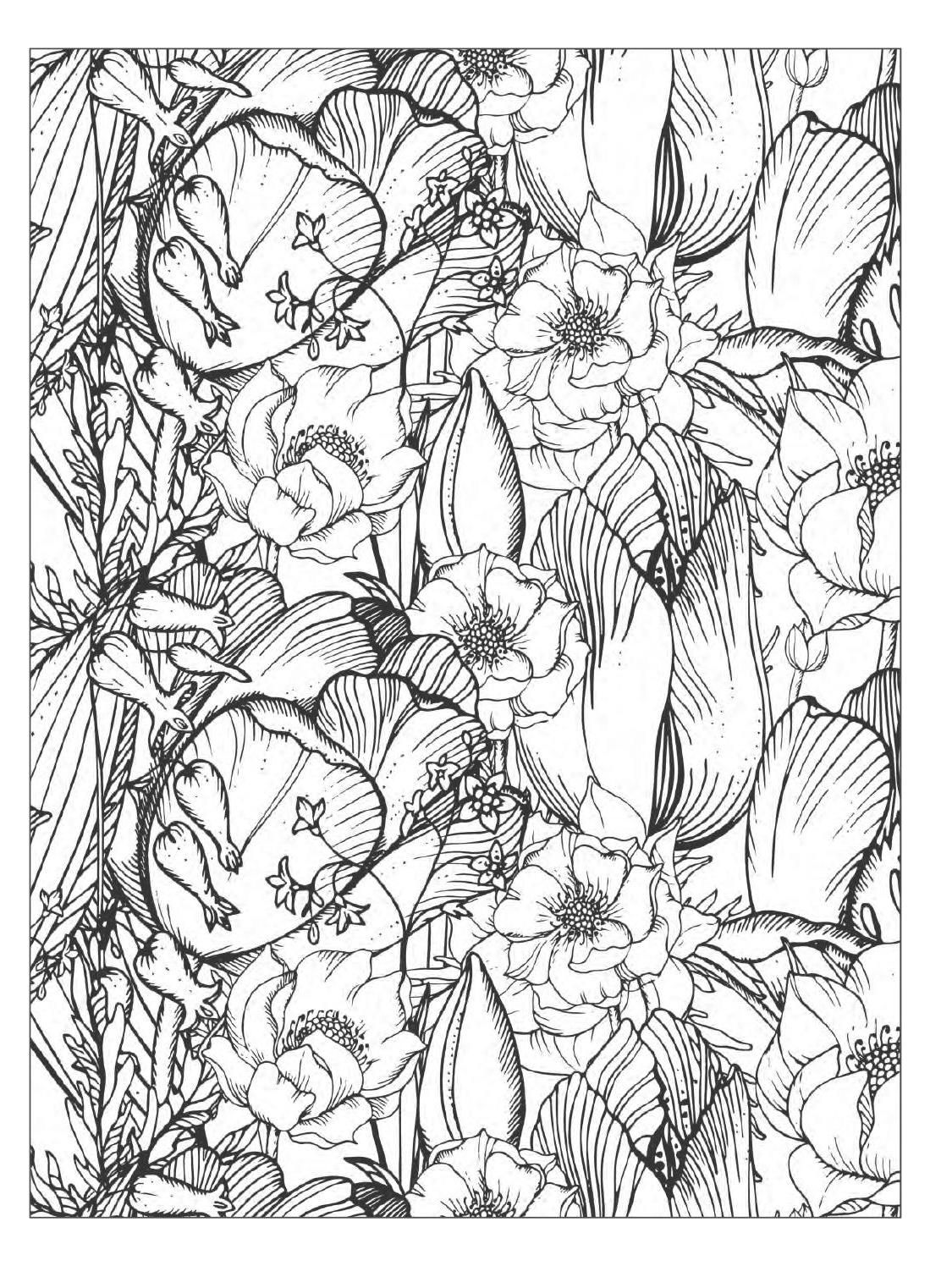 Flower designs coloring book -  Clippedonissuu From Beautiful Flowers Detailed Floral Designs Coloring Book Preview