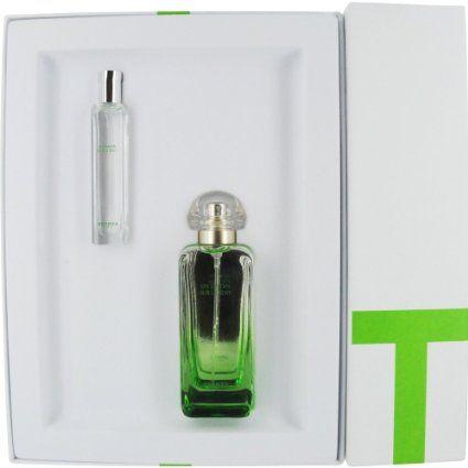 Amazon.com: Hermes Un Jardin Sur Le Toit Set (Eau de Toilette Spray and Eau de Toilette Spray Mini): Beauty