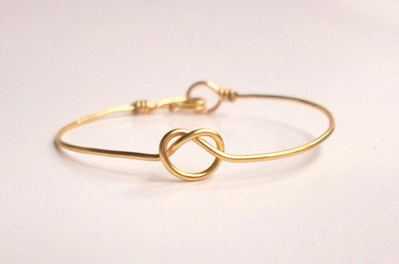 Infinity Knot Bracelet Tie The Knot Bangle Gold Knot Bracelet