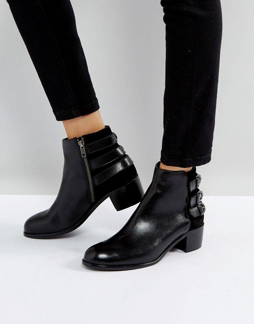 H Par Chaussure En Cuir Boucle Hudson - Cuir Noir bgnmjWpIhf