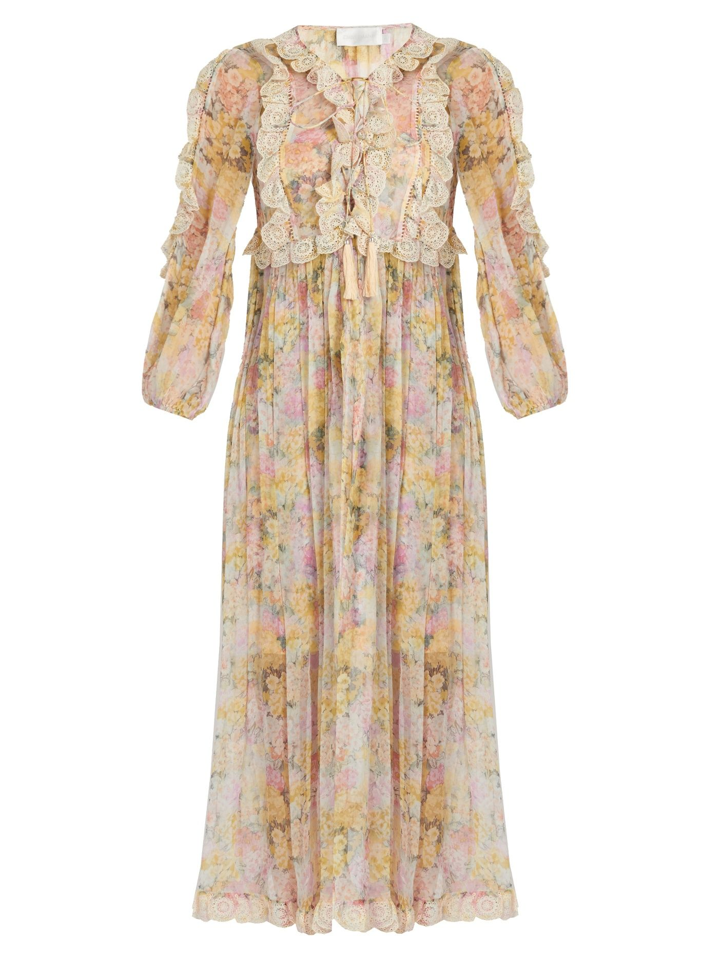 Valour floral print silk crepon dress | Zimmermann