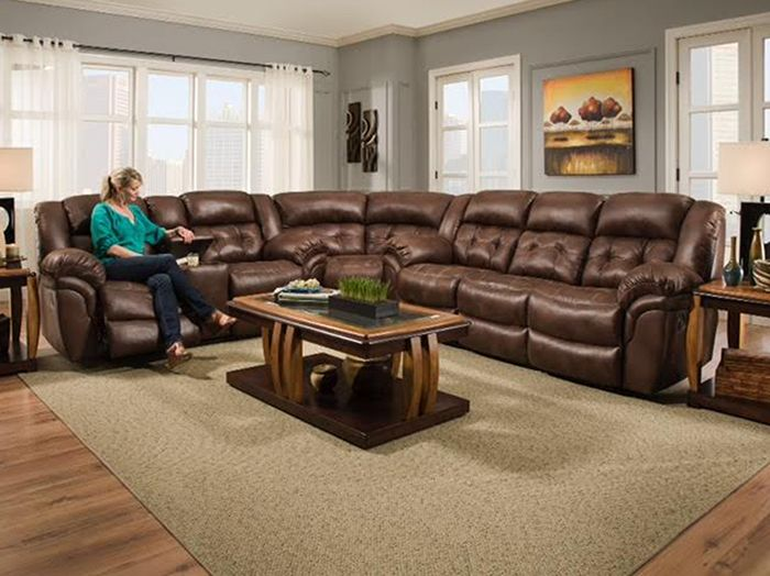 Cheyenne 3 Pc Chocolate Reclining Sectional With Images