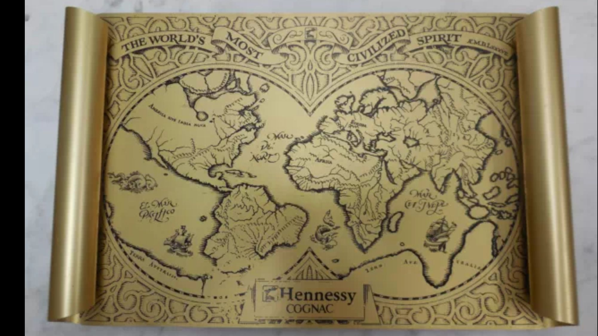 Hennessy Wall Art Vintage World Maps Art Wall Art