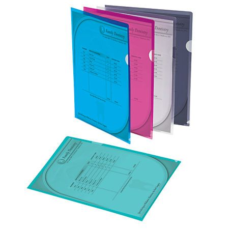 Office Depot Brand Poly Project View Folders Letter Size