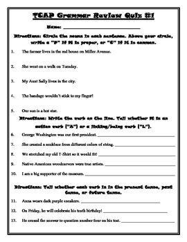 Tcap State Test Grammar Review Packet 4th Grade School Stuff