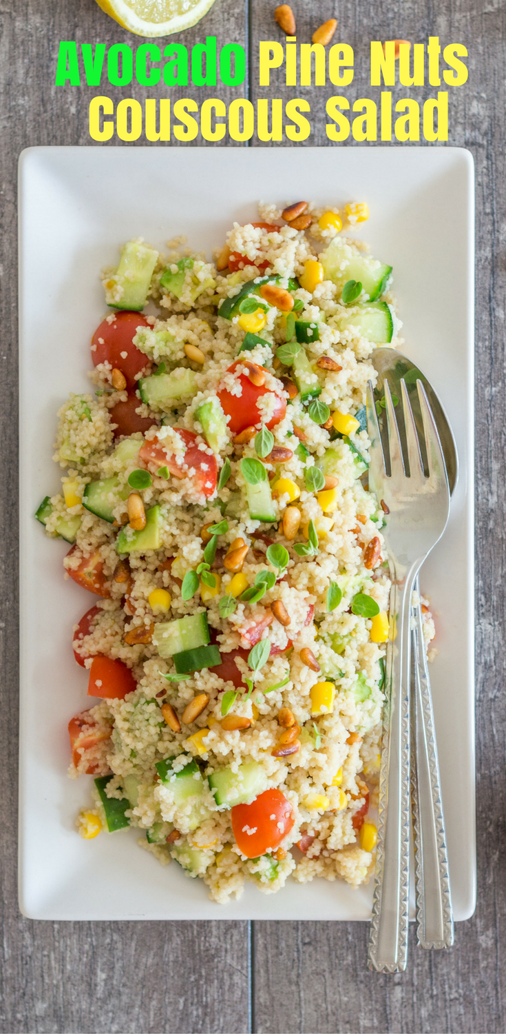 Avocado Pine Nuts Couscous Salad