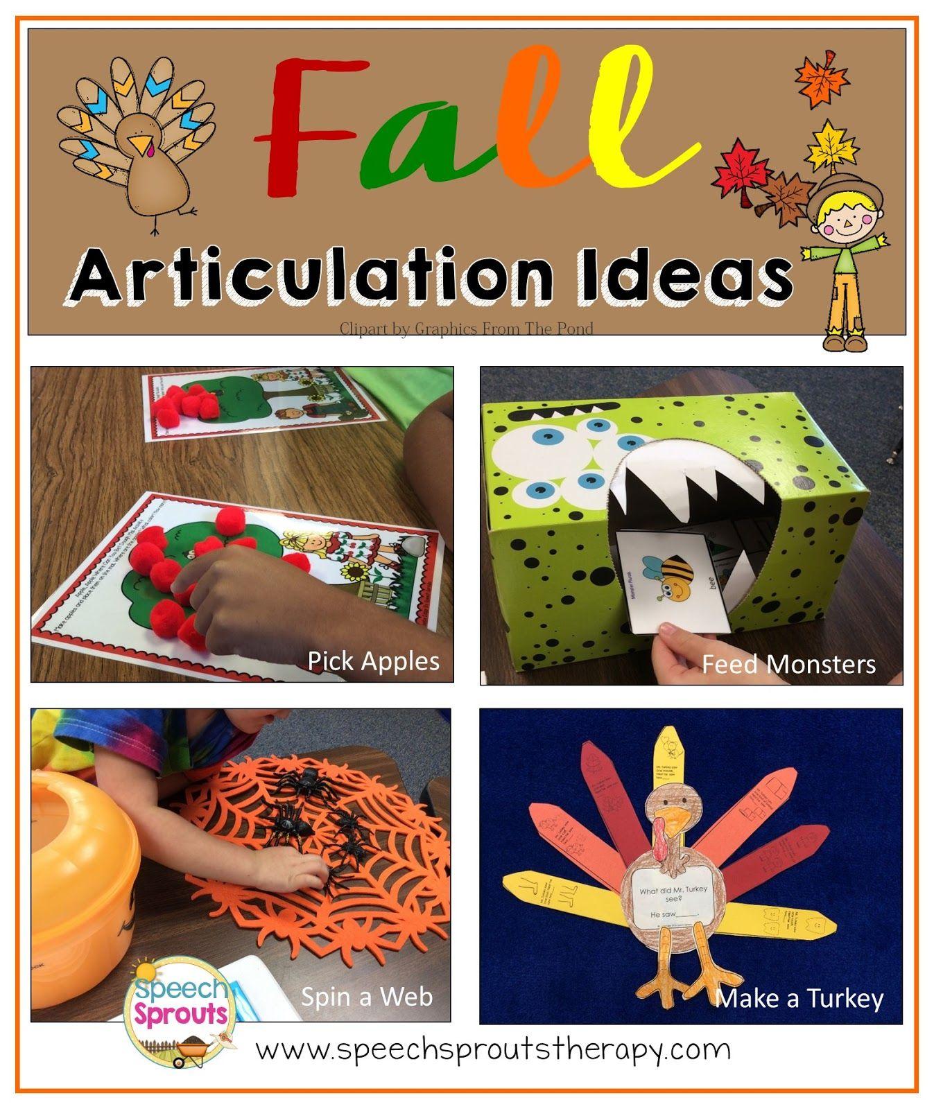 Fall Articulation Four Fun Ideas