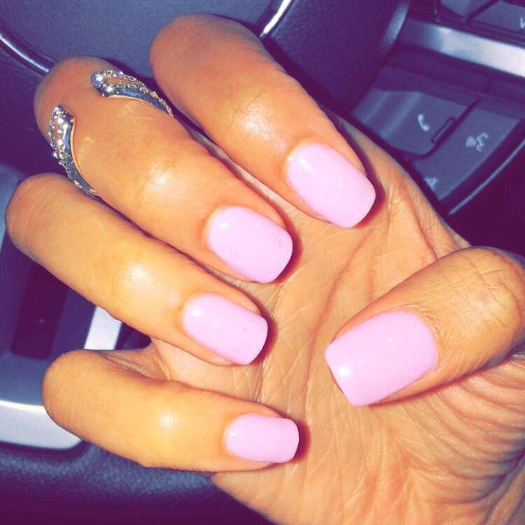 Nexgen Light Pink Nails With Images Nexgen Nails Powder Nails