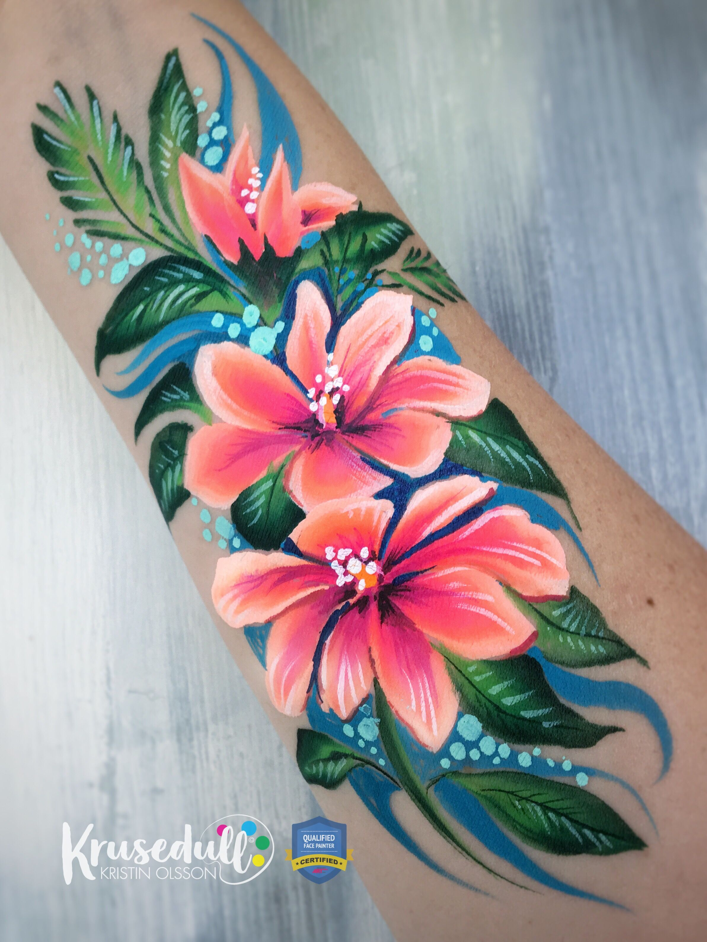 Floral Arm Or Face Paint Face Painting Flowers Adult Face