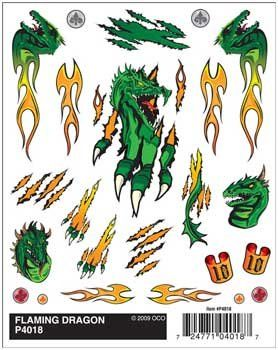 Pinecar Flaming Dragon Dry Transfer by Pinecar. $6.15. Dry transfer stickers for your Pine Car Racers!