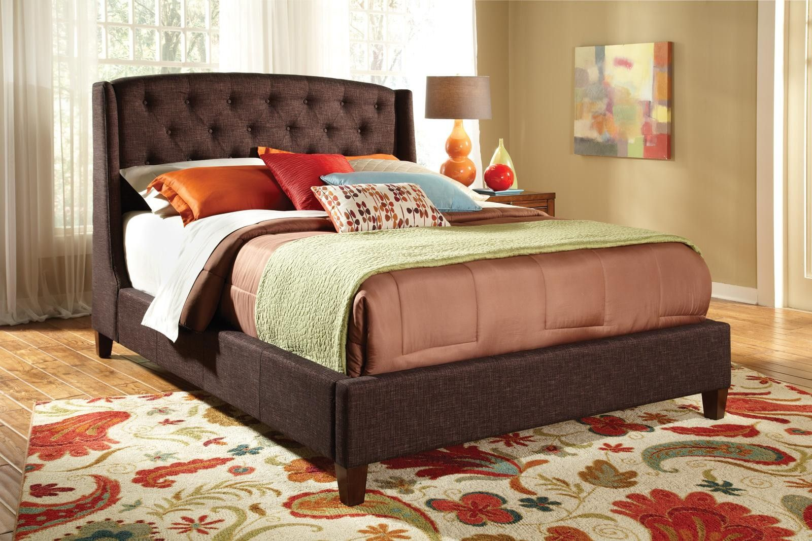 CLEARANCE 300247Q Queen Upholstered Bed Frame