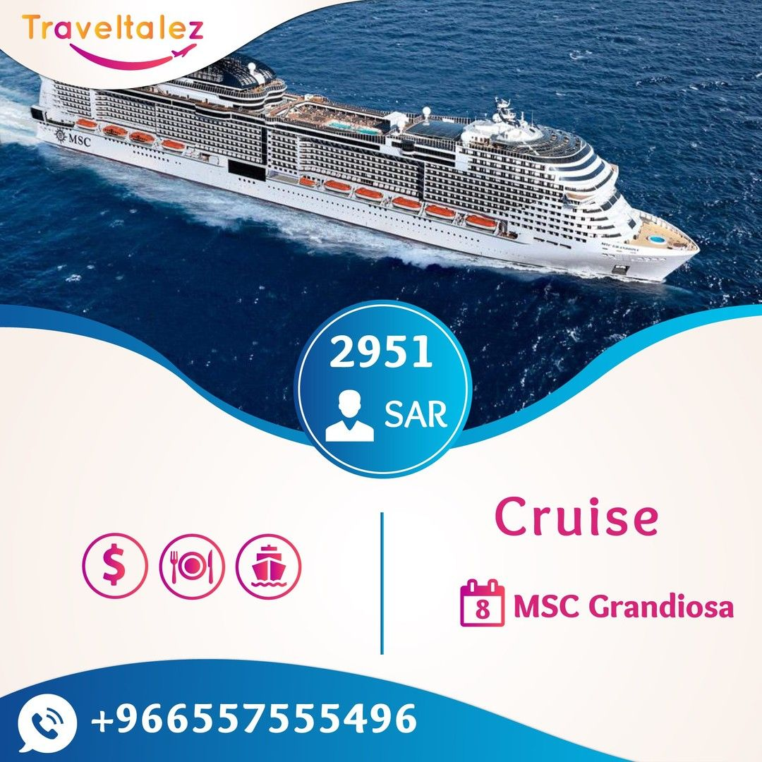 #MSC_GRANDIOSA IS READY TO #SAIL! For 8 days . Package ...
