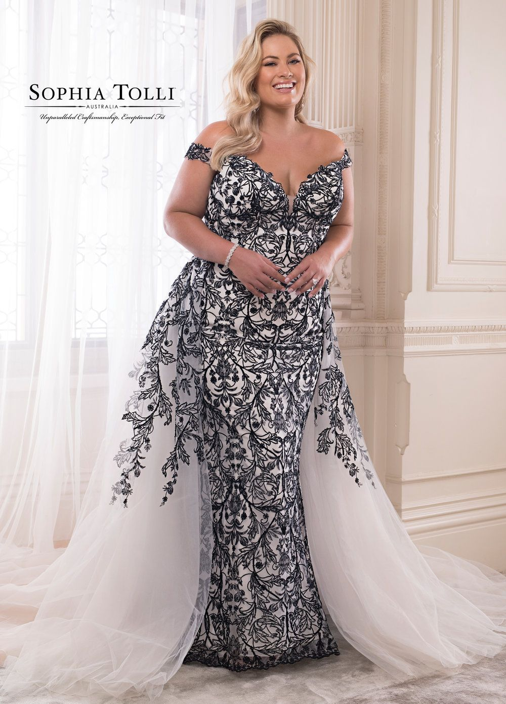 b4f3bb38fea Obsidian Wedding Dress by Sophia Tolli — 22 Pus-Size Designer Gowns that  Prove Your Body is Perfect As-Is
