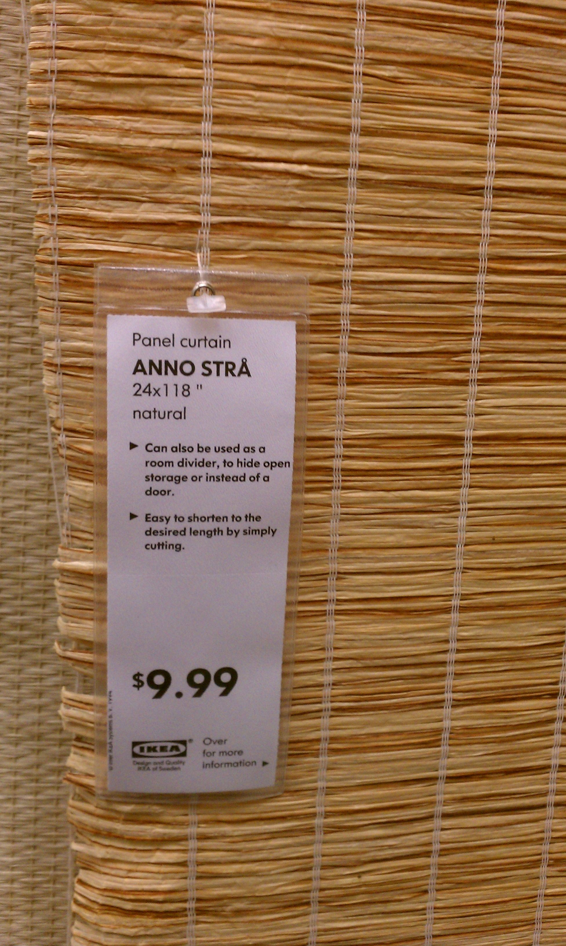 Flächenvorhang Rattan 10 Anno Stra Panel Curtain Ikea Bedroom Ideas Room