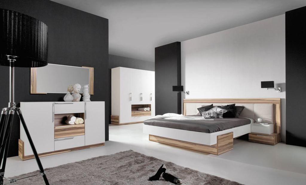 Schlafzimmer Komplett Set A Andenne, 5teilig, Weiß