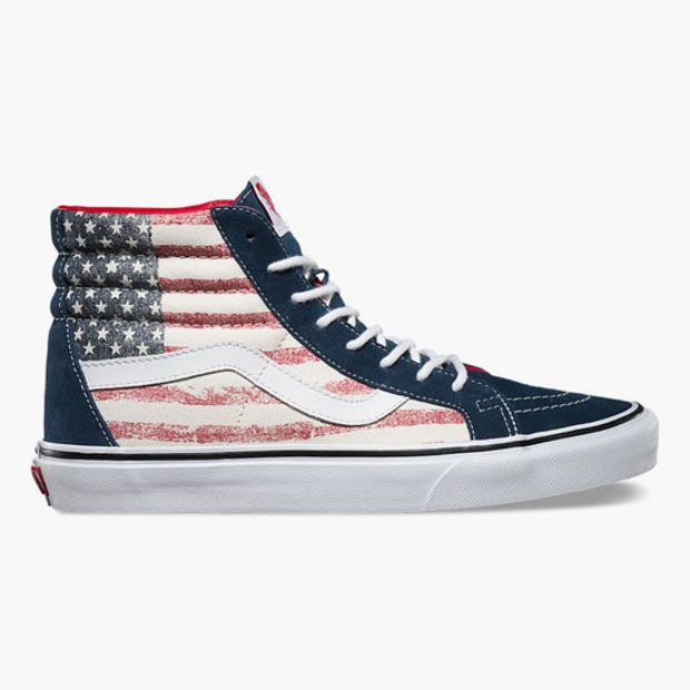 35d1baae1bc060 Vans Americana Sk8-Hi Reissue Womens Shoes Red White Blue In Sizes ...