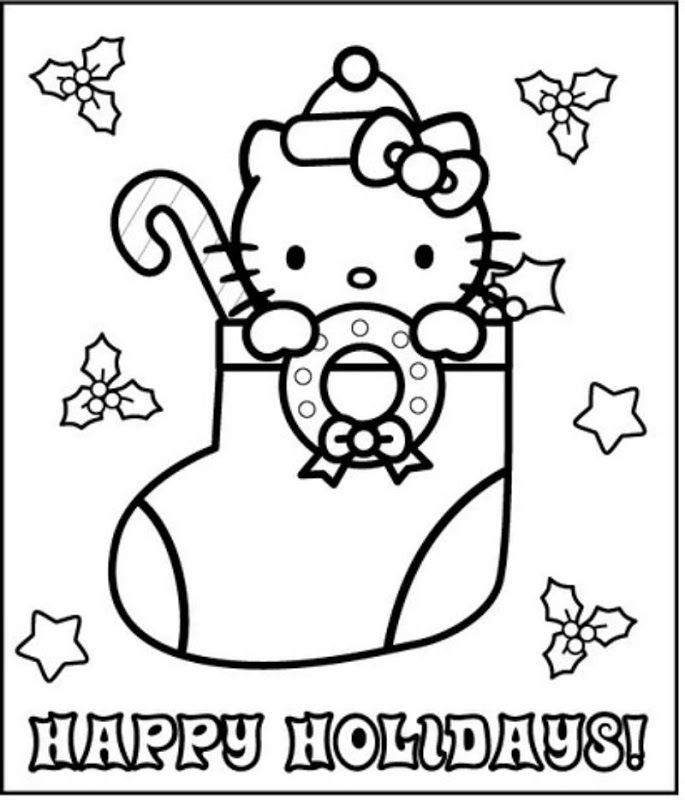Hello Kitty Christmas Coloring Pages Best Coloring Pages For Kids Hello Kitty Colouring Pages Birthday Coloring Pages Hello Kitty Coloring
