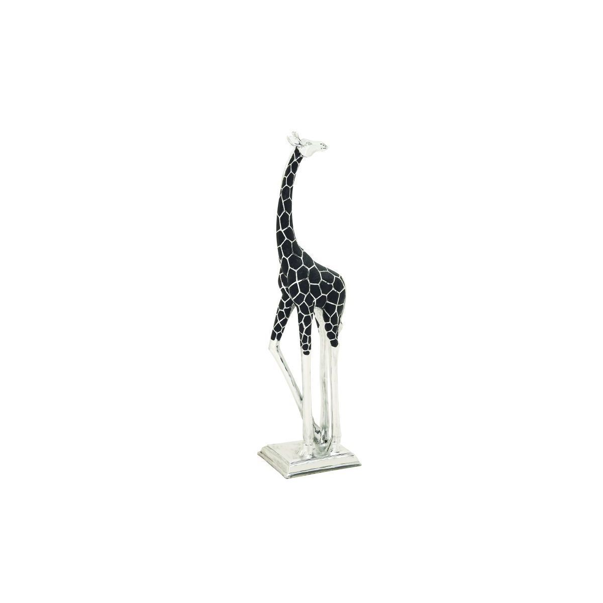 Enterprises /Silver Giraffe Sculpture