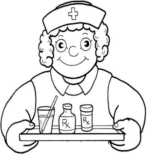 Nurses Bring Coloring For Kids