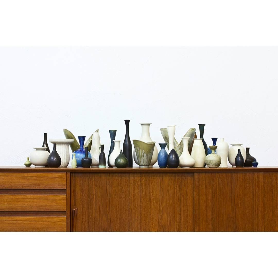 Scandinavian mid century ceramics by Carl Harry Stålhane, Gunnar Nylund, Sven Wejsfelt at www.modernisten.com
