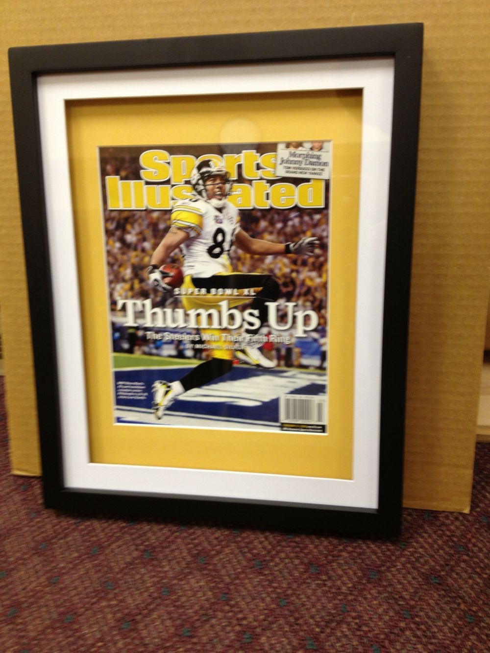 A memorable Sports Illustrated magazine framed for a